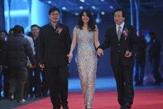 苏鑫、杨健、郭芸走过红毯