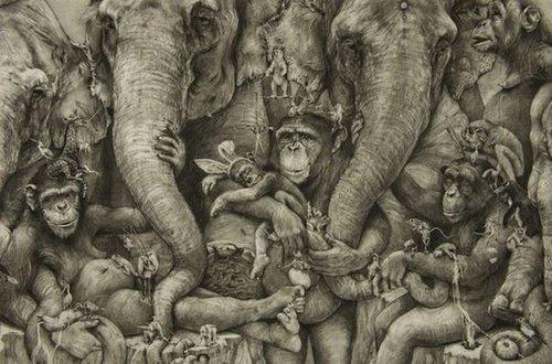 中国古代公主铅笔画
