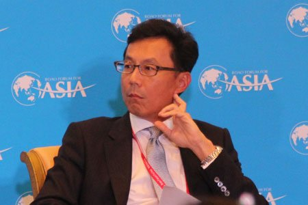 图文:台湾富邦金控董事长蔡明忠