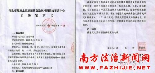 重庆一农民讨赔偿款遭镇长打成七级伤残
