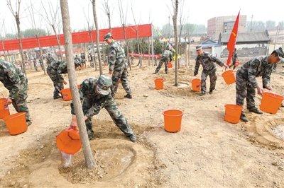 北京驻京部队卫戍区00余在唐家岭