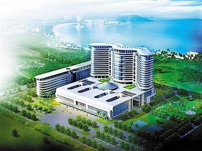 深圳市与南方医科大学合办在建的新安医院效果图.图片来自市卫人委图片