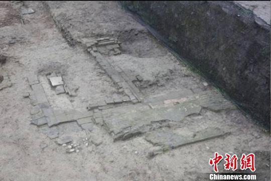成都市青羊区鼓楼街古遗址现唐宋时期河道