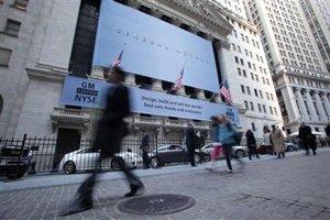 通用汽车在纽约证券交易所门前展出
