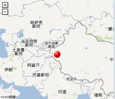 新疆喀什叶城县发生3.0级地震 震源深度8千米图片