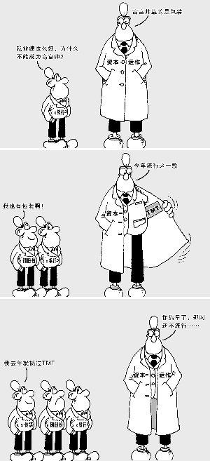 手绘卡通长城简画