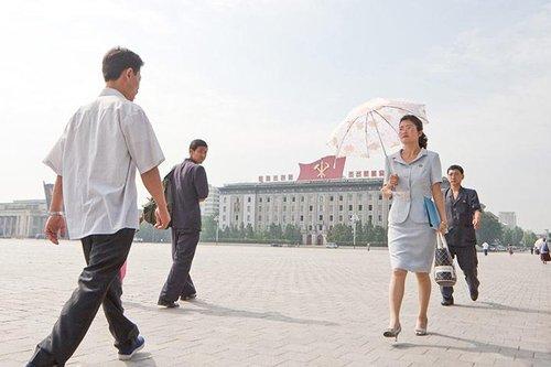 朝鲜罕见百姓生活照 组图_大成网_腾讯网