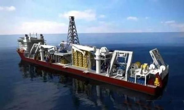 资料图片:中国国产新型深海采矿船想象图。(图片来源于网络)