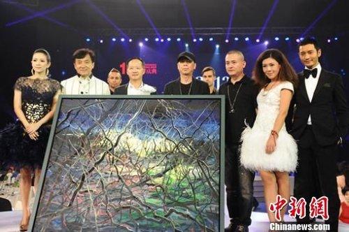 冯小刚联手曾梵志创作油画拍出1800万天价