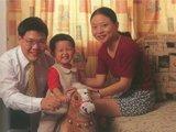 秦朔和家人在一起