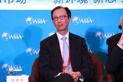 图文:黑石集团大中华区主席梁锦松