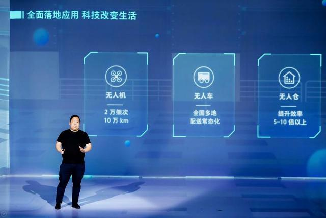 5月29日,618 JD CUBE大会上,京东集团副总裁、X事业部总裁肖军描绘京东无人科技构建的全新智慧生活图景。