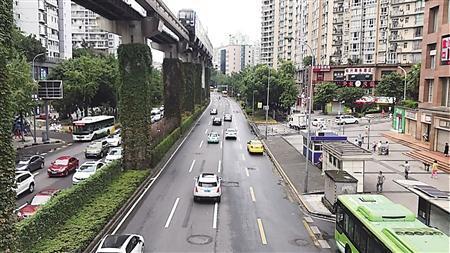 重庆第三条公交优先道7日全线运行 闯禁将罚款200元