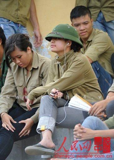 越南:清纯女大学生的军训生活