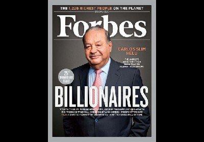 福布斯发布2012全球富豪榜 三无 女企业家入围