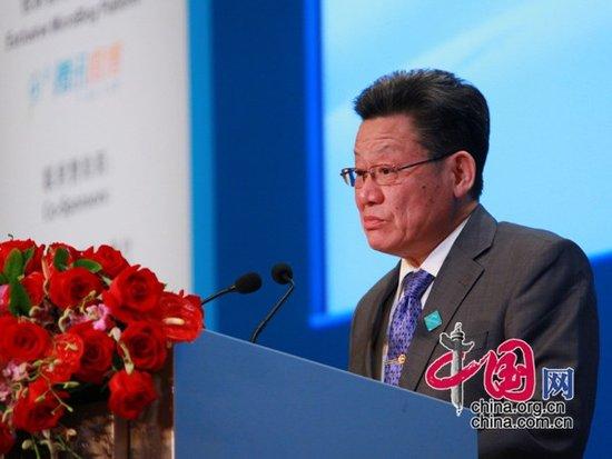 图文:联合国副秘书长沙祖康先生演讲