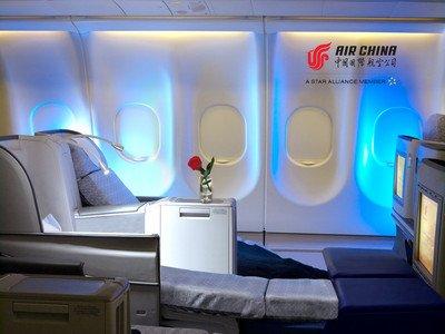 全平躺,新享受 -- 国航全面升级 a330-200 客机公务客舱