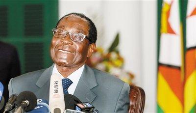 穆加贝连任津巴布韦总统