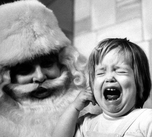孩子表情就表情不服你包服问们遇见1圣诞老人后的搞笑组图(外国)图片