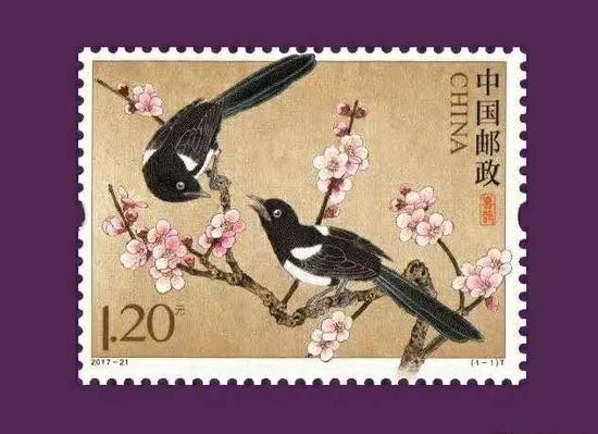邮票也来秀恩爱 《喜鹊》邮票七夕发行