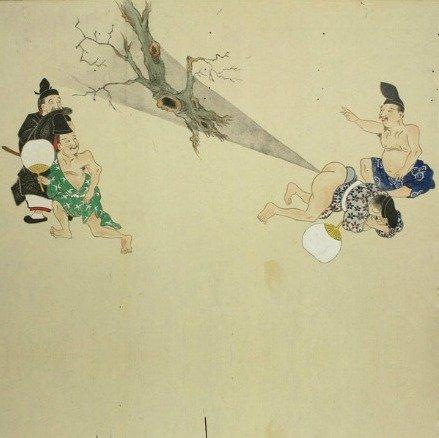 日本重口味画卷《屁合战绘卷》:用放屁打仗