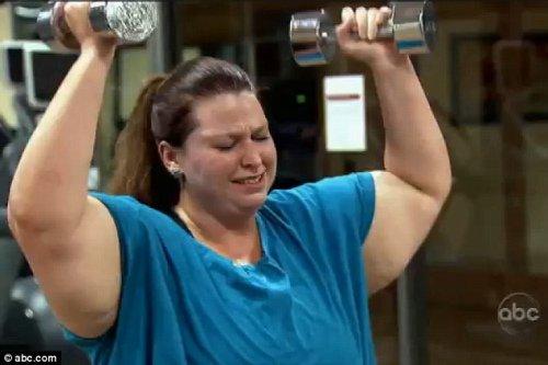a母亲母亲为当女子减肥近190斤一月瘦80斤(图)方法简单的秋季减肥小图片
