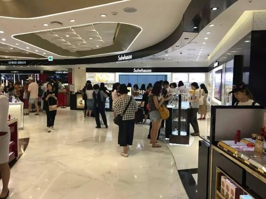 韩国免税店走出了