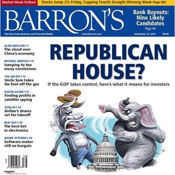 巴伦周刊:共和党人或将重回白宫