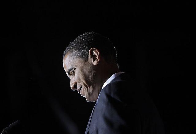 奥巴马在演讲.图片
