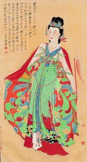中国书画仍是2013国内拍卖的重头戏,张大千的《红拂女》以7130万元成交,成为嘉德拍卖全年中国书画部分的最高价。
