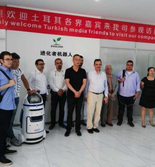 """""""一带一路""""见证中国高科技,小胖机器人当选""""AI智造""""唯一代表"""