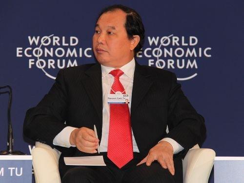 图文:越南工贸部副部长阮锦绣