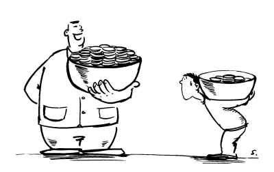 收杯子简笔画-三探收入差距 高管该不该高收入