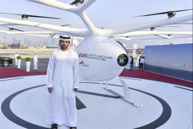 迪拜土豪真会玩 首次公开测试飞行出租车