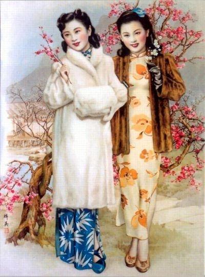 老照片:老上海画片上的新潮女郎