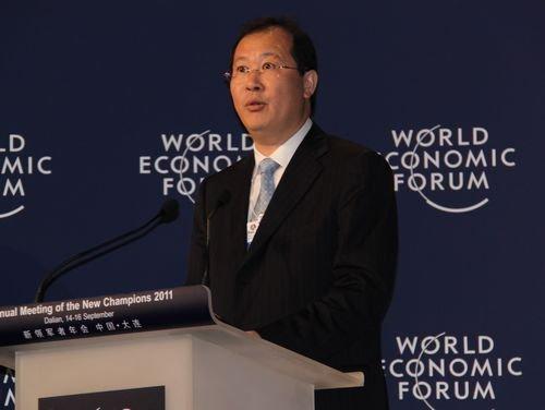 图文:天津市副市长任学锋达沃斯闭幕式致辞
