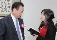 校园记者访问刘健林