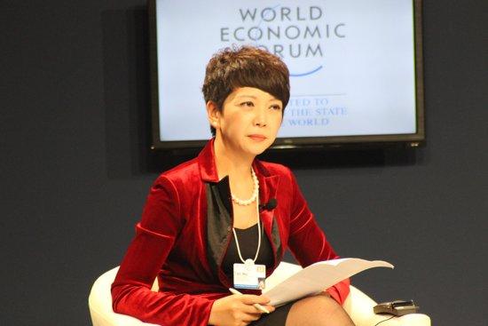 图文:中央电视台英语新闻频道主持人田薇图片