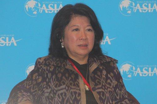 图文:印度尼西亚旅游部部长冯慧兰