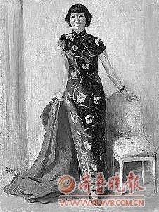 徐悲鸿 1941年的蒋碧薇肖像作品.-不想让假画祸害无辜藏家图片
