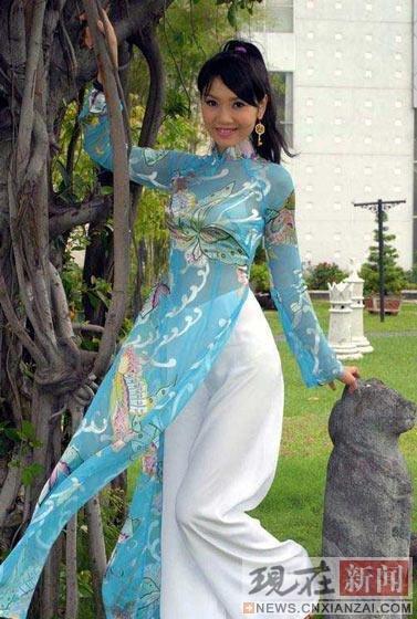 实拍越南国宝级美女 长发细腰阳光肤色一