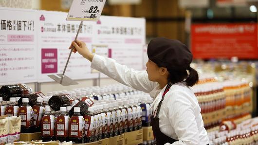 零售销售数据下跌 日本央行扩大货币刺激压力加大