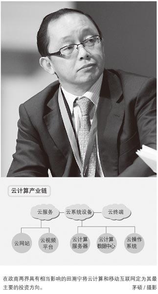 """原网通CEO田溯宁十亿豪赌""""云计算"""""""