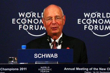 图文:世界经济论坛创始人兼主席施瓦布