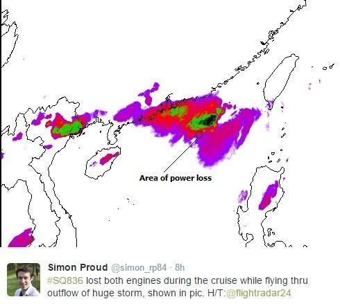 新加坡航空航班双引擎失灵 直降4千米后重启(图)