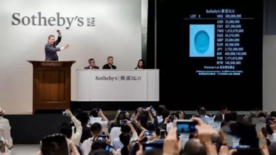 中国10大拍卖行2017秋拍创174亿佳绩 20件拍品过亿