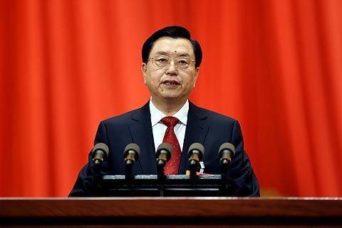 2015年3月8日,全国人大常委会委员长张德江做工作报告。