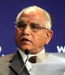 印度卡纳塔克邦首席部长 B. S. Yeddyurappa