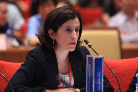 图文:经济合作与发展组织秘书长顾问何伊兰