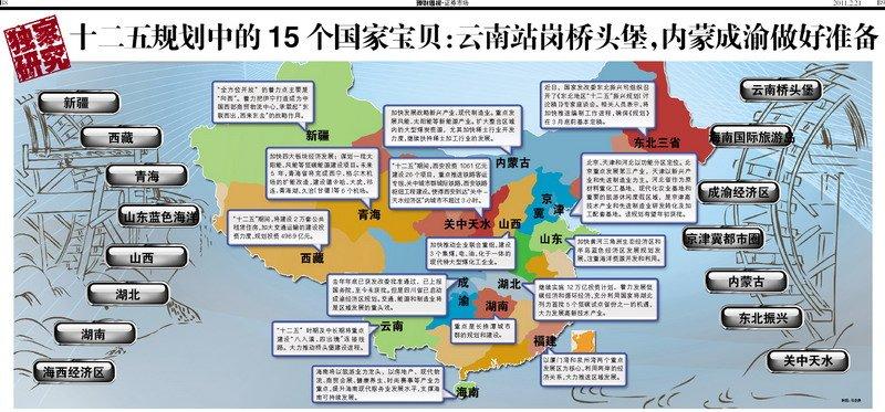 十二五规划中的15个国家宝贝